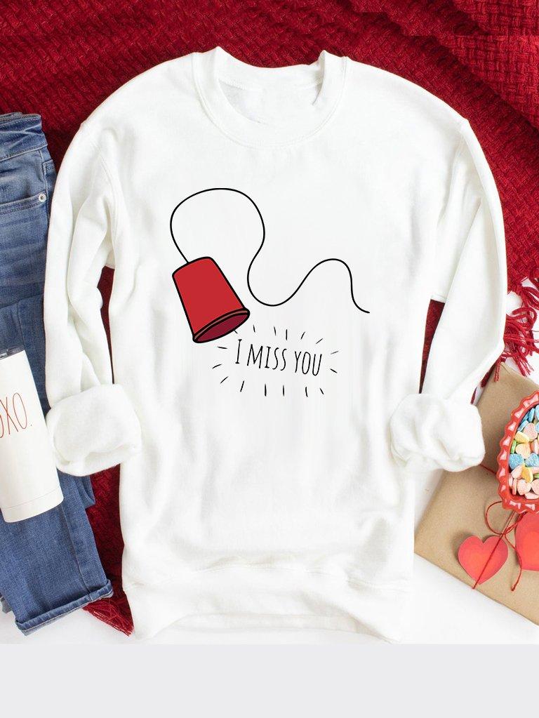 Bluza w kolorze białym Tęsknię Love&Live