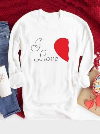 Bluza w kolorze białym I Love Love&Live (zdjęcie 3)