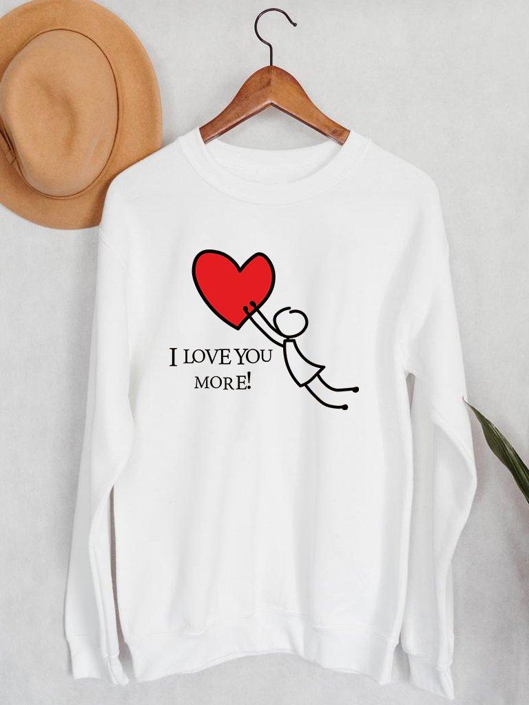 Bluza męska w kolorze białym Łapię Twoją Miłość Love&Live