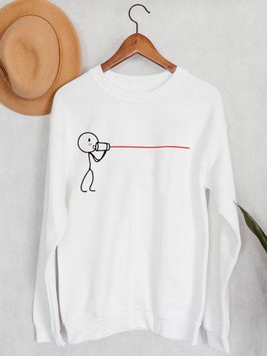 Bluza męska w kolorze białym Połączenie Love&Live