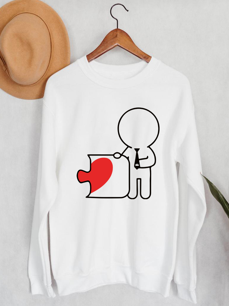 Bluza męska w kolorze białym Druga Połowa Love&Live
