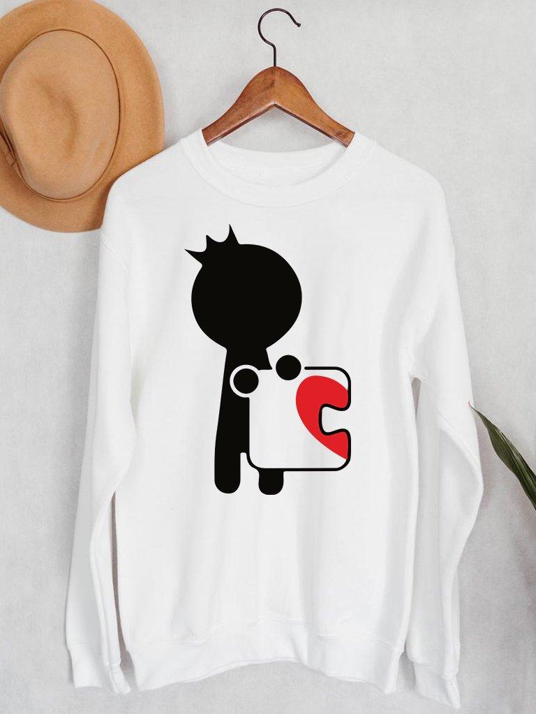 Bluza męska w kolorze białym Książę Puzzle Love&Live
