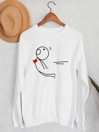 Bluza męska w kolorze białym Atrakcja Love&Live