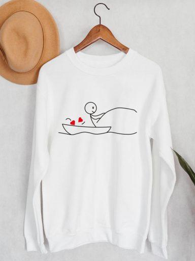 Bluza męska w kolorze białym Wędkarz Love&Live