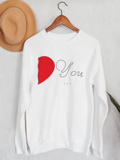 Bluza męska w kolorze białym You… Love&Live (zdjęcie 2)