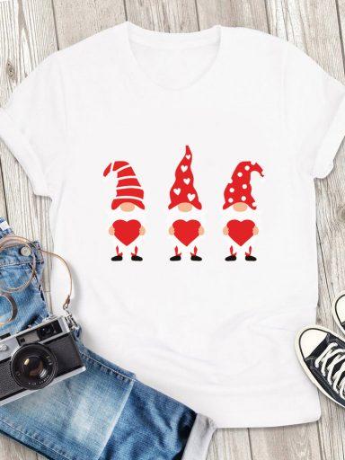 T-shirt męski biały Miłość i 3 gnomy Love&Live (zdjęcie 3)