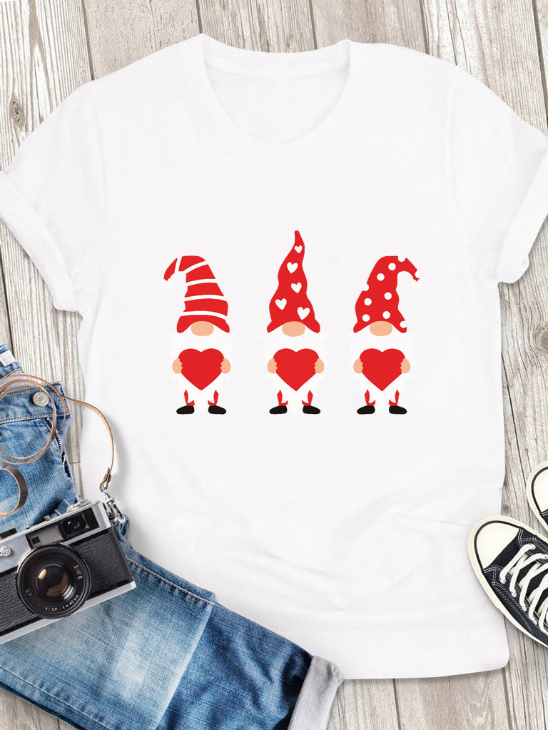 T-shirt męski biały Miłość i 3 gnomy Love&Live