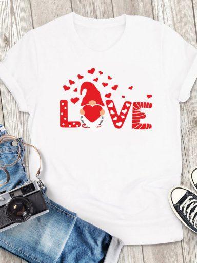 T-shirt męski biały Big Love Gnome Love&Live