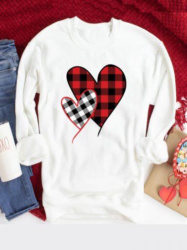 Bluza w kolorze białym Miłość w kratę Love&Live