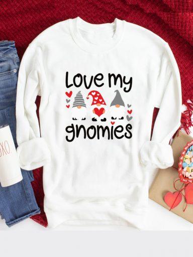 Bluza w kolorze białym Love My Gnomies Love&Live