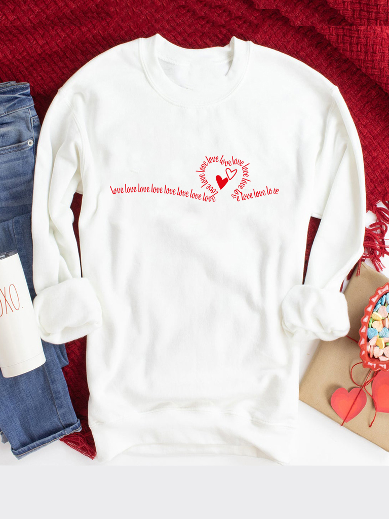 Bluza w kolorze białym Many Love Love&Live