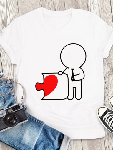 T-shirt męski biały Druga Połowa Love&Live