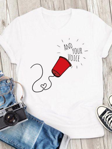 T-shirt męski biały Tęsknię Za Twoim Głosem Love&Live