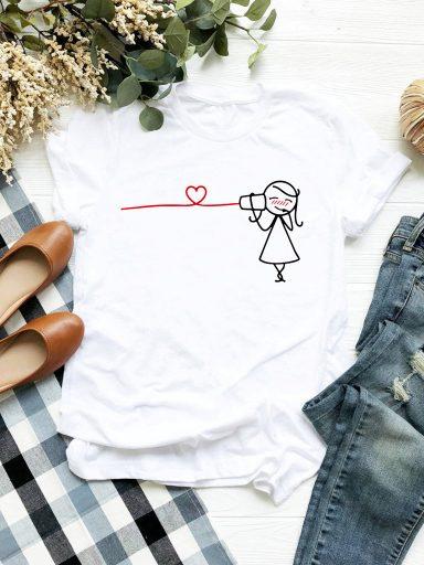 T-shirt biały Przyjęcie Love&Live (zdjęcie 2)