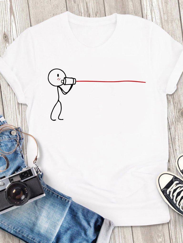 T-shirt męski biały Połączenie Love&Live