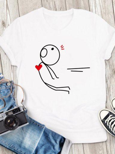 T-shirt męski biały Atrakcja Love&Live (zdjęcie 3)
