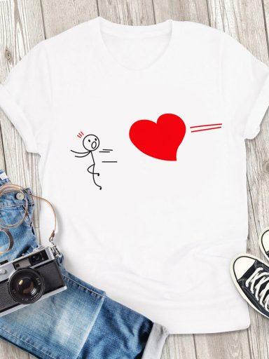 T-shirt męski biały Trafienie Love&Live (zdjęcie 3)