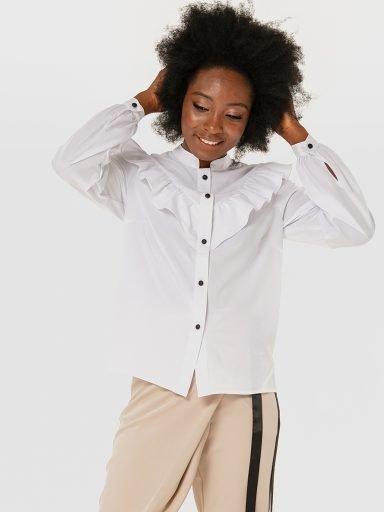 Biała bluza z falbanami Love&Live