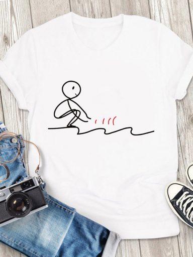 T-shirt męski biały Wchodzące Love&Live