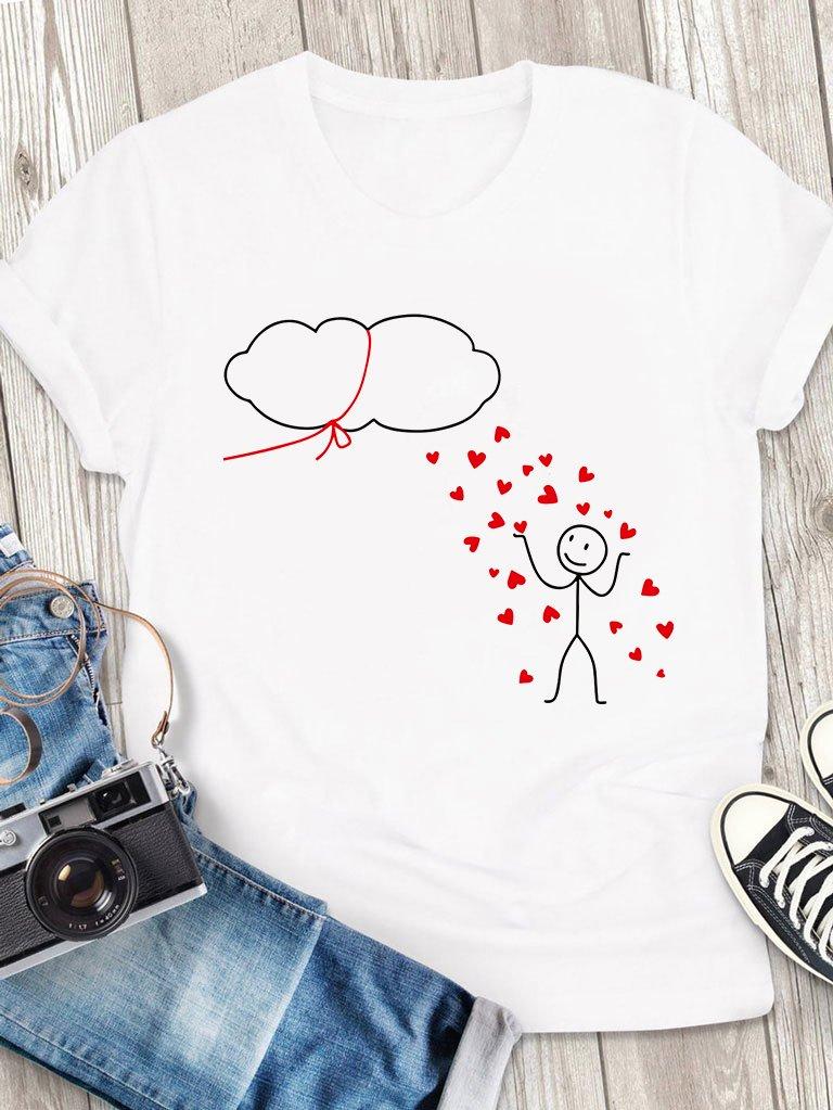 T-shirt męski biały Chmura Love&Live