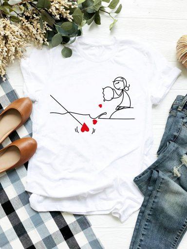 T-shirt biały Pzynęta Love&Live