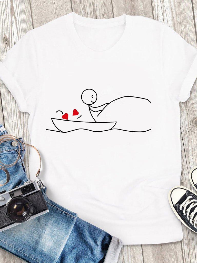 T-shirt męski biały Wędkarz Love&Live