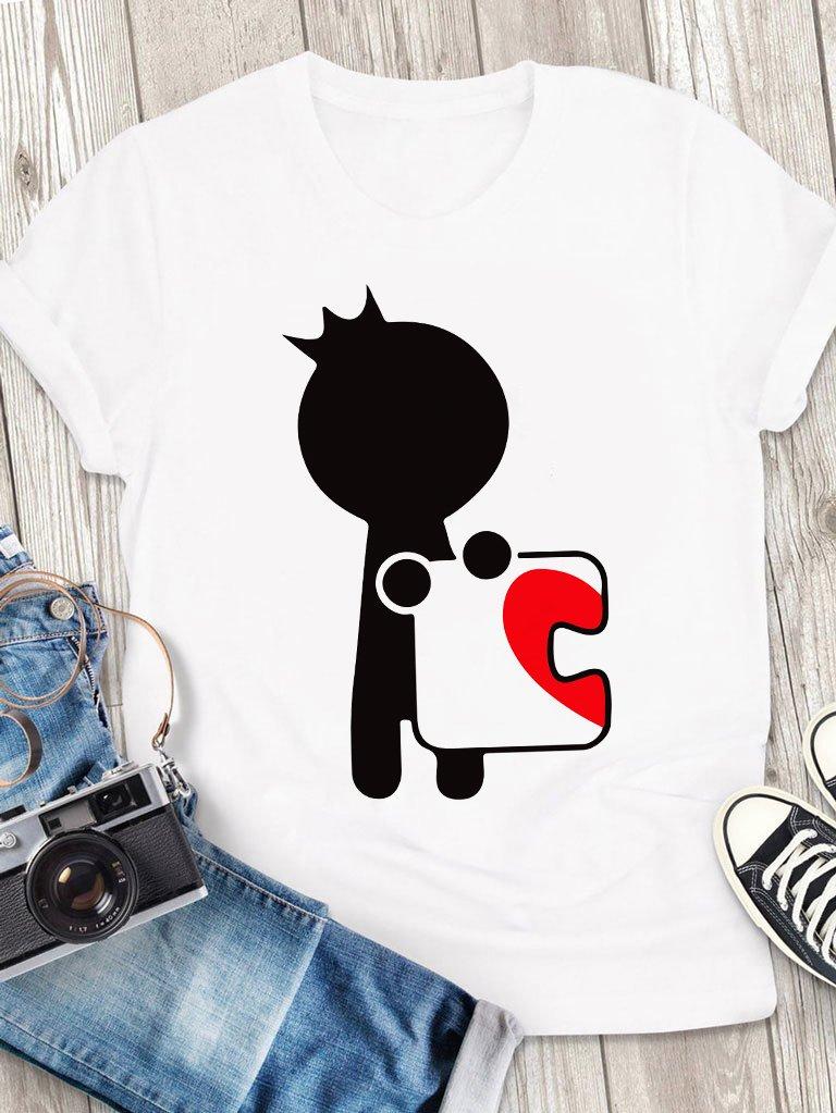 T-shirt męski biały Książę Puzzle Love&Live