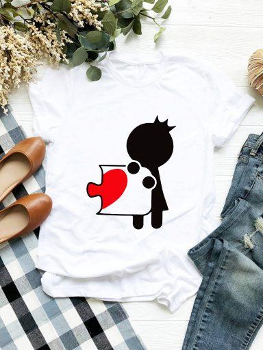T-shirt biały Księżniczka Puzzle Love&Live