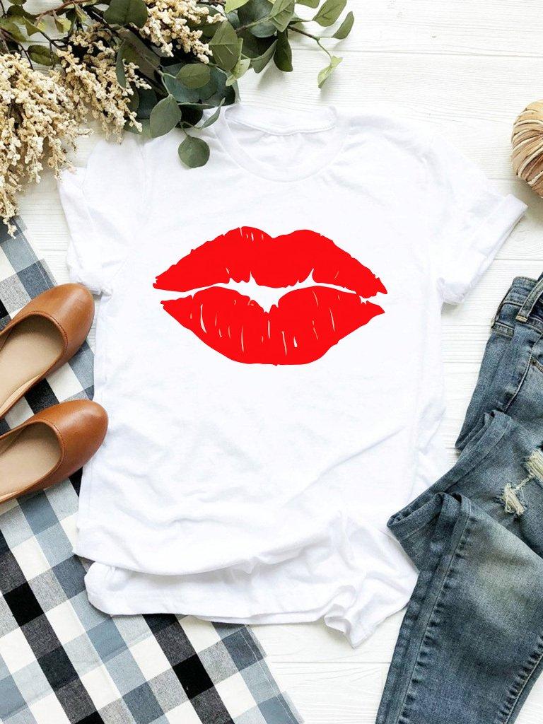 T-shirt biały Mrs. Love&Live