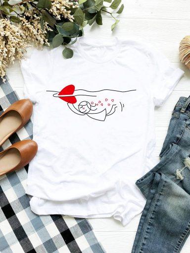 T-shirt biały Rekin Love&Live