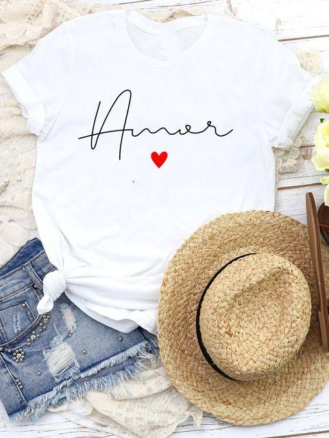 T-shirt biały Amore Katarina Ivanenko