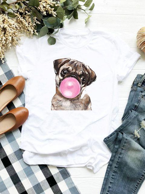 T-shirt biały Bubble mops Love&Live