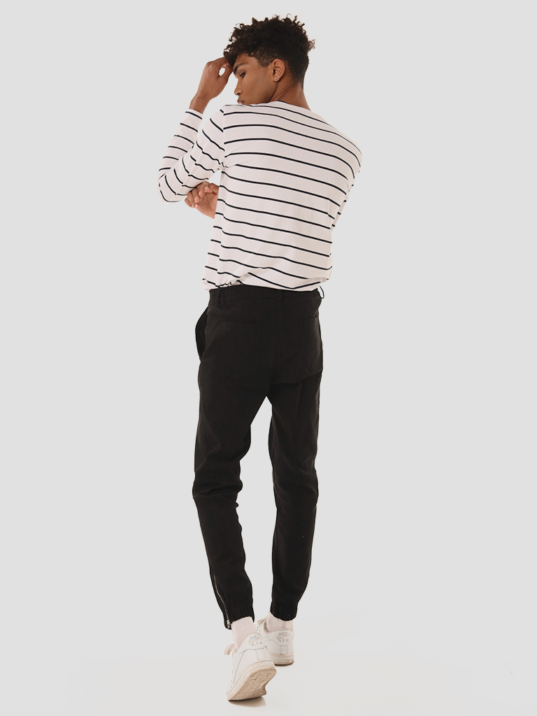 Męskie spodnie dresowe w kolorze czarnym Love&Live (zdjęcie 3)