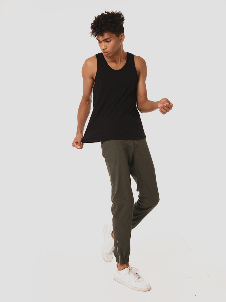 Męskie spodnie dresowe w kolorze khaki Love&Live
