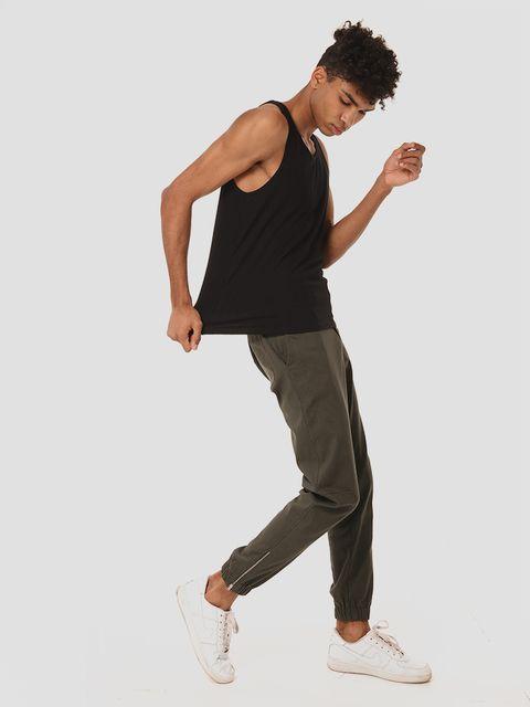 Męskie spodnie dresowe w kolorze khaki Love&Live (zdjęcie 2)