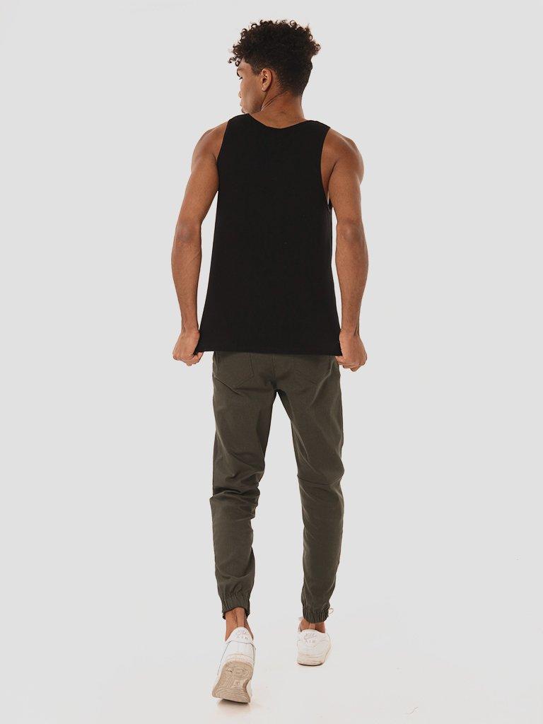 Czarna koszulka męska bez rękawów Love&Live (zdjęcie 4)