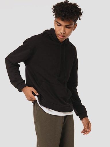Bluza męska czarna z imitacją T-shirt Katarina Ivanenko (zdjęcie 13)