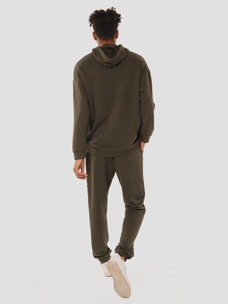 Zestaw dresowy męski w kolorze khaki (bluza, spodnie) Love&Live