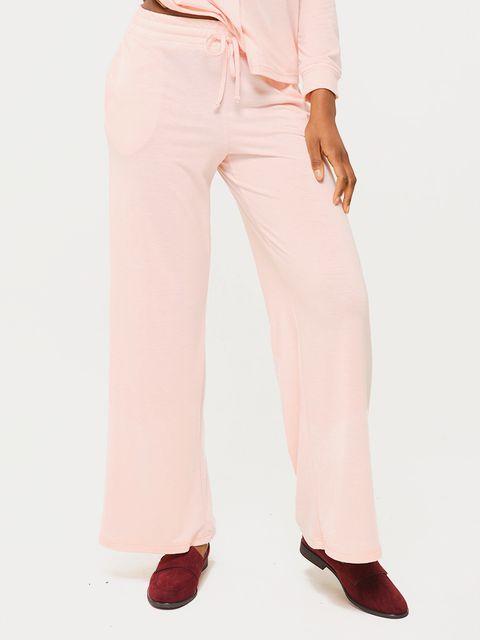 Spodnie domowe w kolorze pudrowym Love&Live