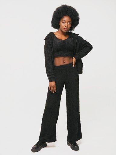 Komplet w kolorze czarnym (bluza, top, spodnie) Katarina Ivanenko