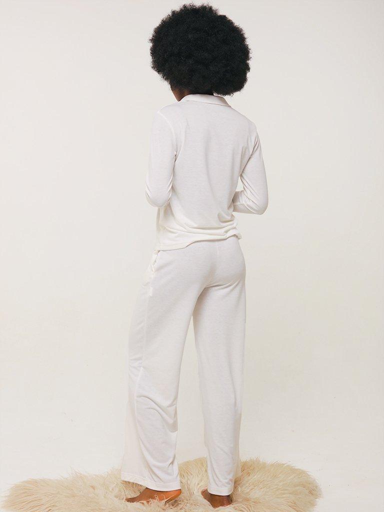 Spodnie domowe w kolorze mlecznym Love&Live