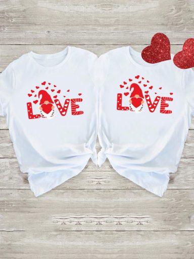 Koszulki dla par Big Love Gnome Love&Live (zdjęcie 11)