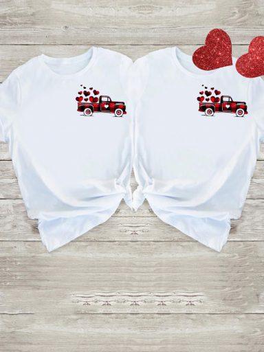 Koszulki dla par Small Love Car Love&Live (zdjęcie 15)