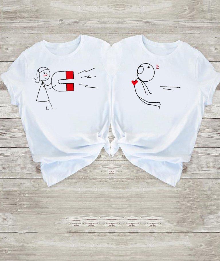 Koszulki dla par Love Magnet Love&Live