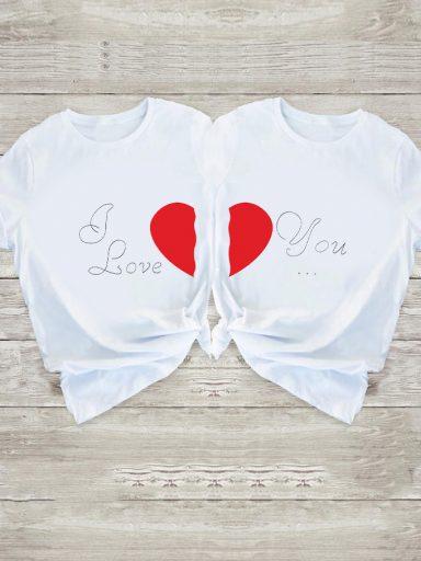 Koszulki dla par Dwie połówki Love&Live (zdjęcie 15)