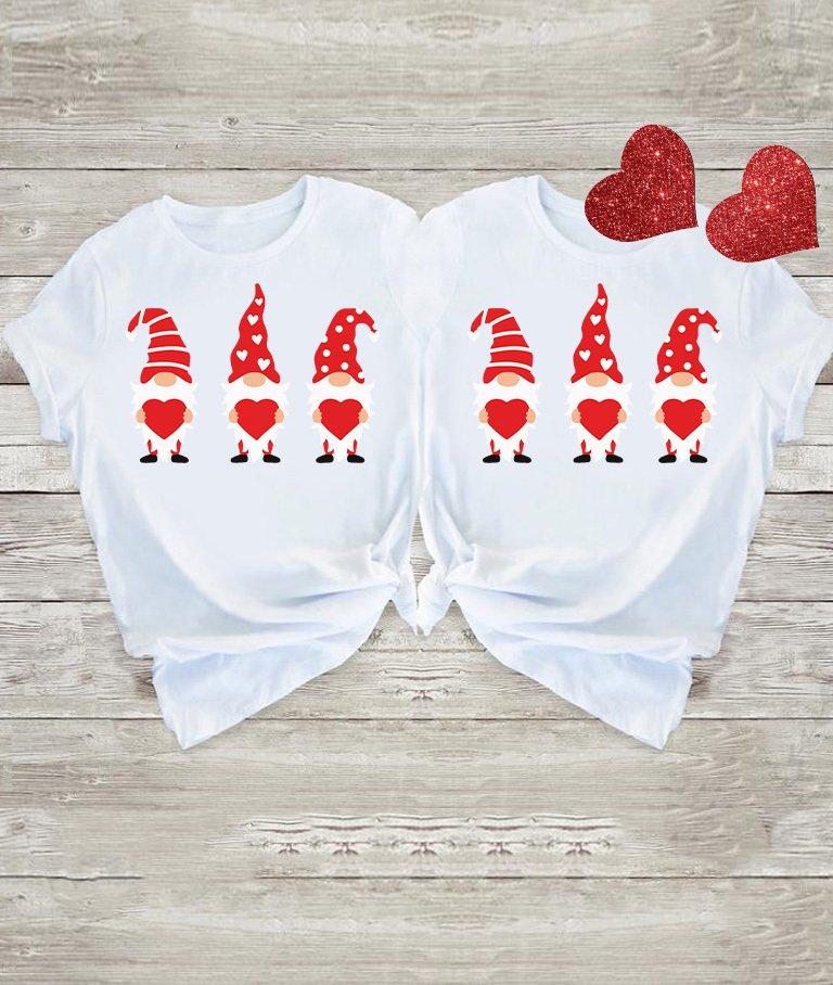 Koszulki dla par Miłość i 3 gnomy Love&Live