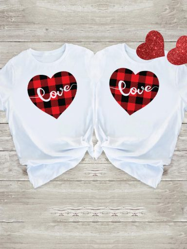 Koszulki dla par Miłość W Kratę Love&Live (zdjęcie 6)
