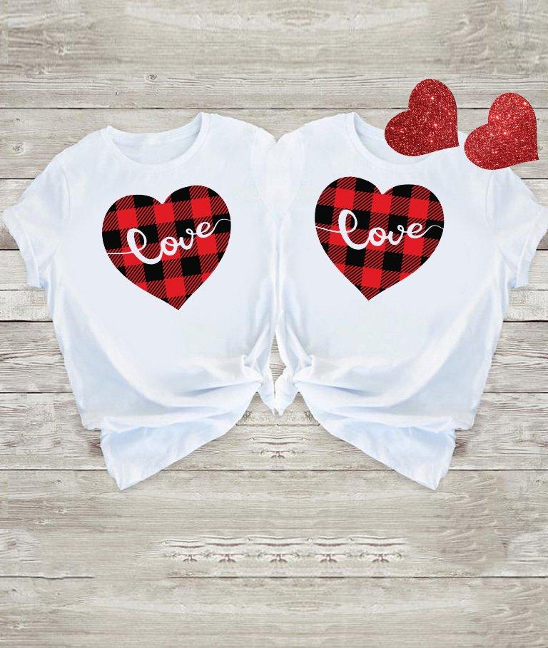 Koszulki dla par Miłość W Kratę Love&Live