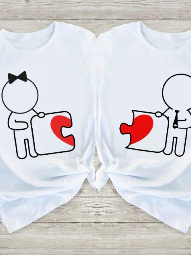 Koszulki dla par Love Puzzle Love&Live (zdjęcie 13)