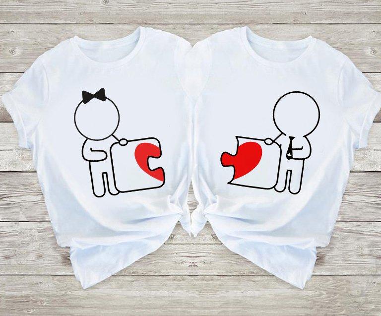 Koszulki dla par Love Puzzle Love&Live